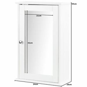 BATHROOM-CABINET-WOODEN-SINGLE-MIRROR-DOOR-INDOOR-WALL-MOUNTABLE-BATHROOM-SHELF