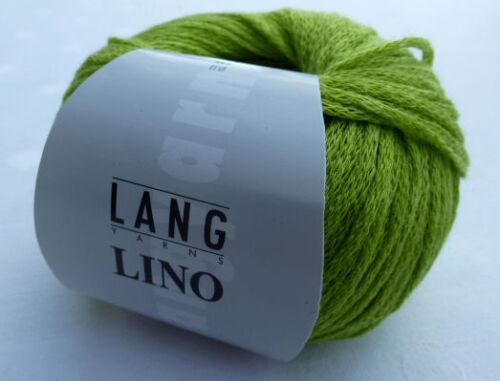 Lino 50g Lang Yarns Wolle 100/% Leinen Fb 0016 maigrün