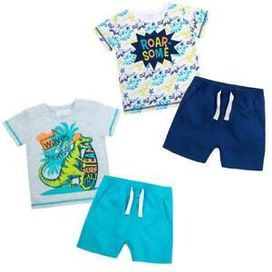 Boys-Dinosaur-Summer-T-Shirt-Top-and-Shorts-Set-2-6-years