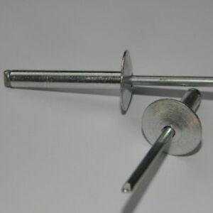 Großkopf Blindnieten  Ø 3,2 - 4 - 4,8 - 5mm  Alu/Stahl Länge und Stück wählbar
