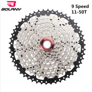 BOLANY-9-Speed-Cassette-11-50T-535g-MTB-Mountain-Bike-Freewheel-Fit-SHIMANO-SRAM