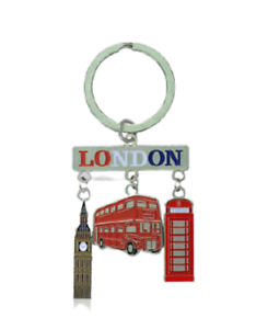 London Montage Phone Box Bus Big Ben Souvenir Gift Keyring