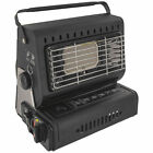 Highlander Camping Portable Compact Gas Heater - Black