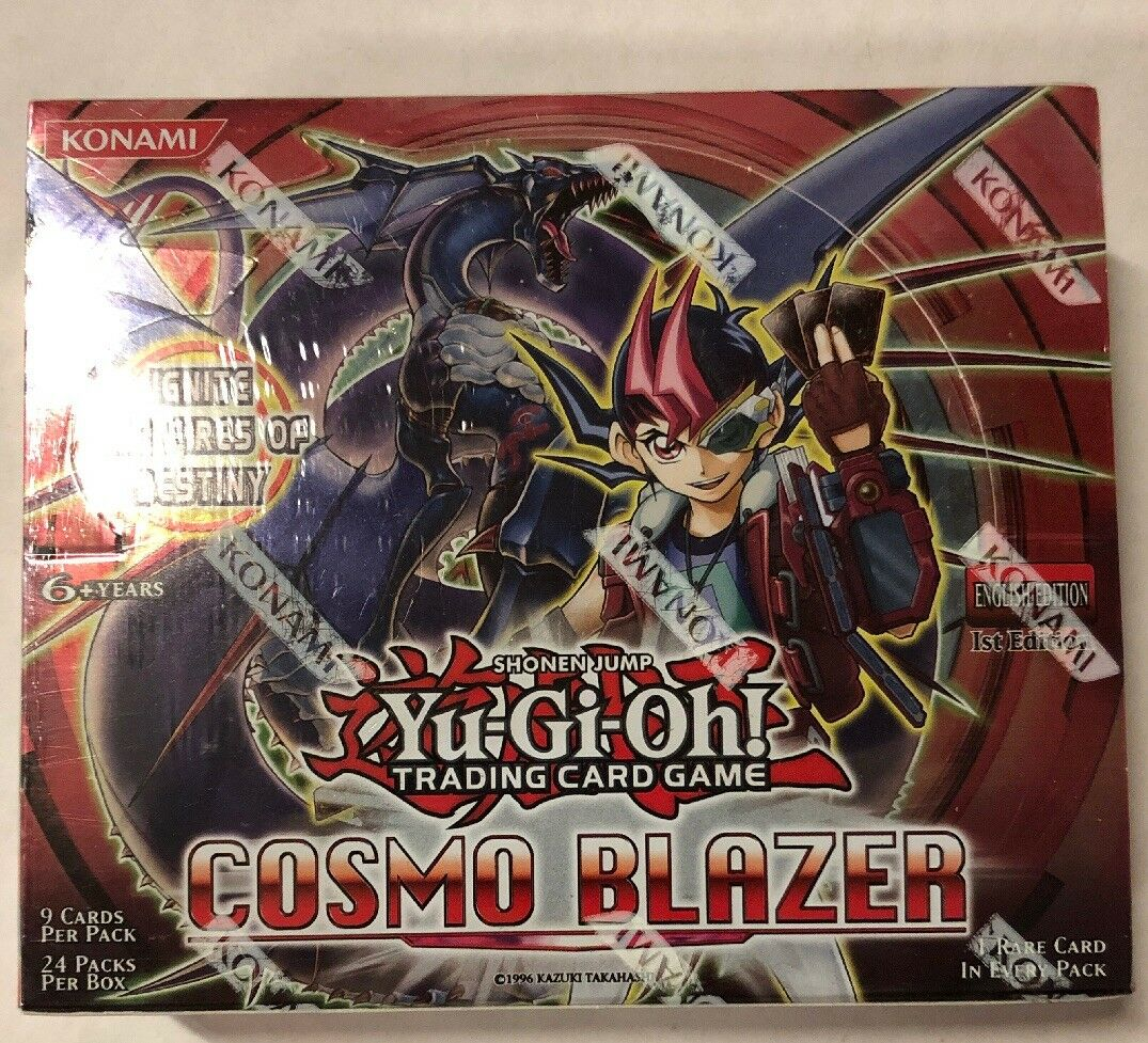 Yugioh Cosmo Blazer 1st Edition 24-Count Booster Box TCG CCG Cards