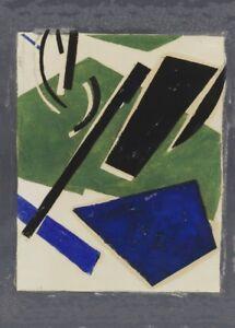 1917 Lyubov Popova Suprematism Avant-Garde Poster Untitled from Six Prints I