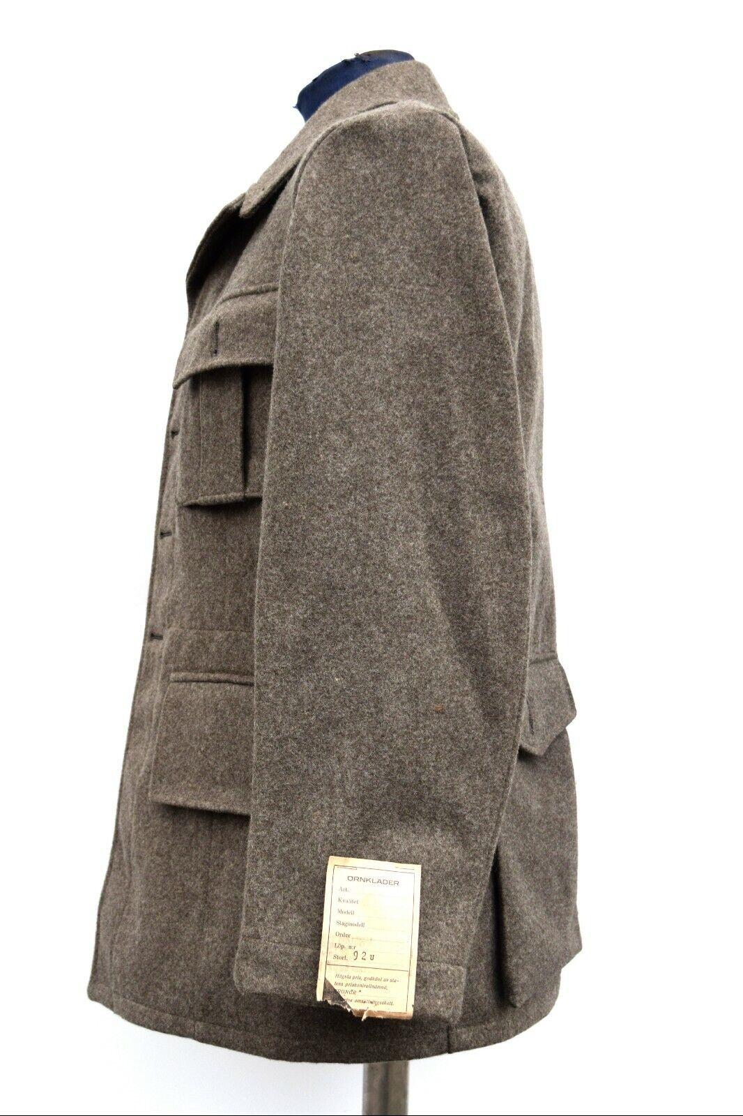 Vintage Vintage Vintage Ejército Sueco ajustada de Lana Abrigo Chaqueta Túnica M39 de la Segunda Guerra Mundial. nuevas, 1940 12c4b4