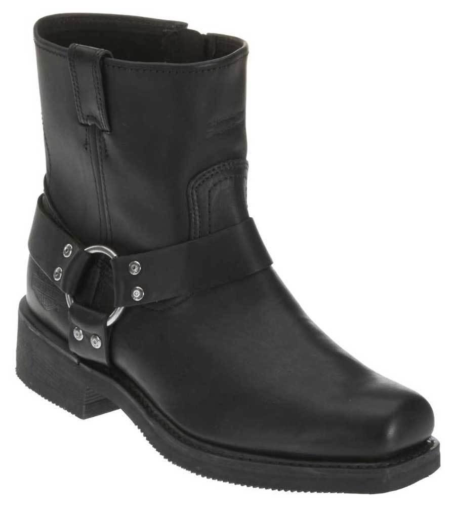 Harley-Davidson Men's El Paso Harness 7-Inch Motorcycle Boots, Side Zip D94422