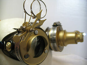 Pro Steampunk ® Safety Goggles Brass Metal Western Top Hat ...