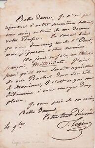 Lettre autographe Pierre-Mathieu LIGIER (Bordeaux, 1797-1872) acteur.