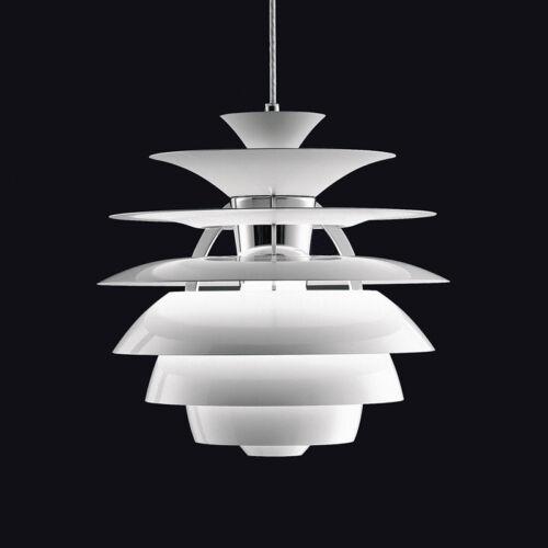 White Snowball Pendant Poul Henningsen Designed Chandelier Lamp Light New 40CM