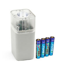 4pcs 1.5v 1100mWh AAA rechargeable lithium battery + charger w/ LED flashlight