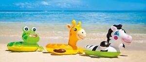 INTEX Wasserspielrin<wbr/>g Schwimmring Tierkopf  Schwimmhilfe Frosch Pinguin Giraffe