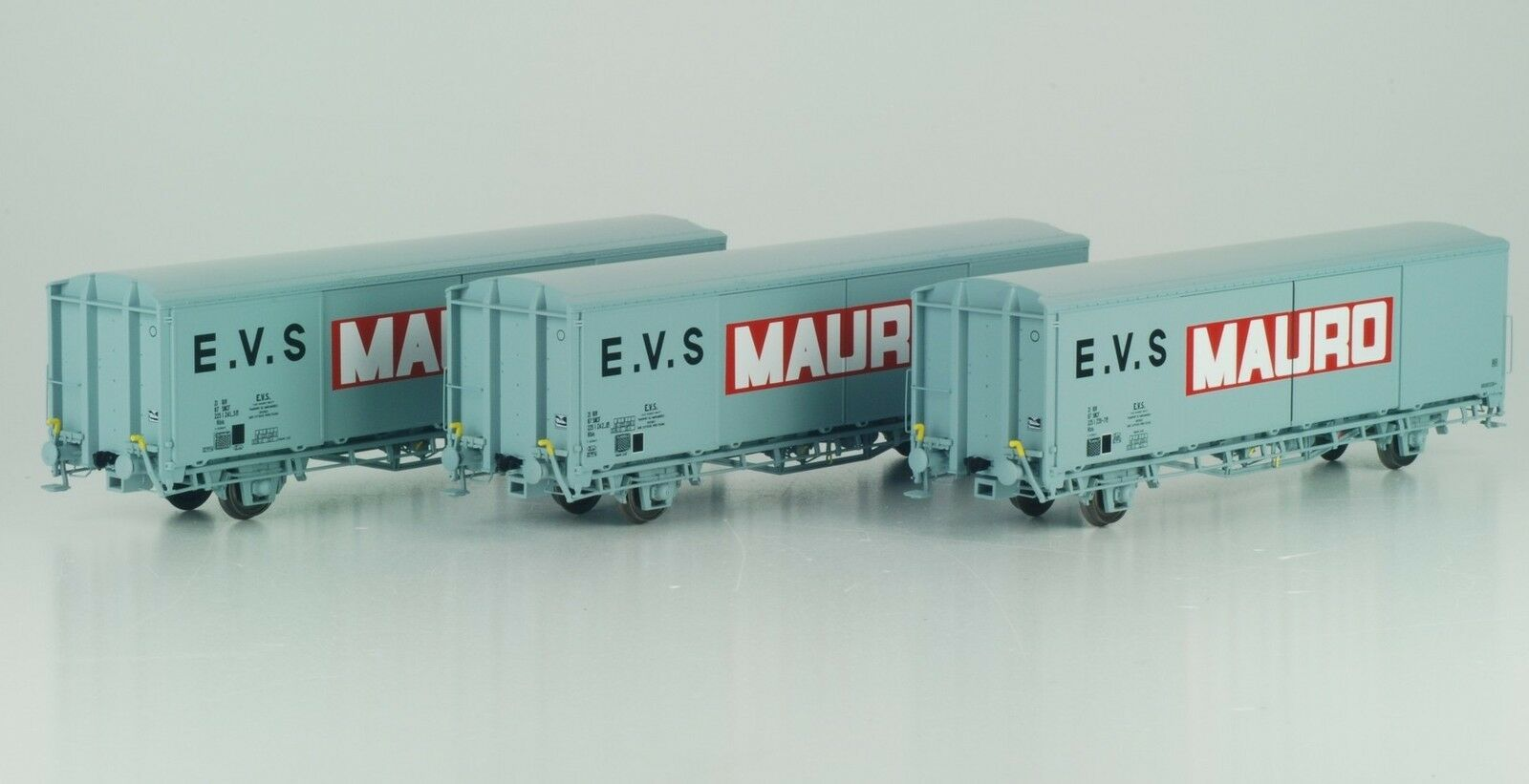 LS Models 30665 Set 3x SNCF 2-Axle Covered güterwag EVS Mauro Grey Ep4-5 NEW + OVP