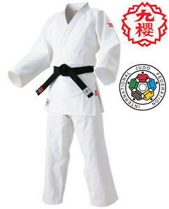 Details about KUSAKURA JAPAN Judo gi Jacket Pants set JOSI IJF Official  Patch Model