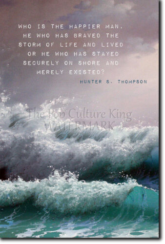 Thompson citar Cartel 2-Impresión Fotográfica Arte Regalo-desafiaron a la tormenta Hunter S
