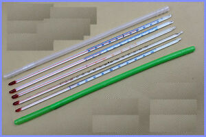 Glass-thermometer-0-100-Celsius-6mm-OD-300mm-non-Hg