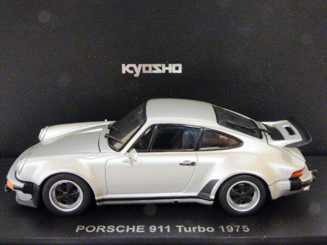 Kyosho porsche 911 turbo 1975 (argent)