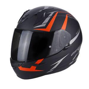Casco moto Integrale Scorpion EXO 390 HAWK 39-264 Nero opaco Rosso outlet