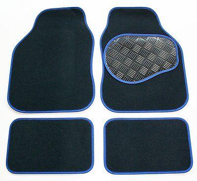 Bereidwillig Navy Carpet & Blue Trim Car Mats With Rubber Heel Pad For Skoda Fabia 2007-2014 Wees Nieuw In Ontwerp
