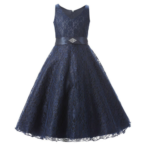 Flower Dress Princess Dress Kid Pageant Wedding Party Lace Prom Sweet Formal