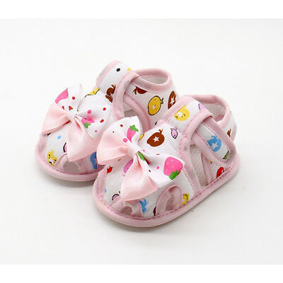 Toddler Newborn Kids Girls Rabbit Bowknot Crystal Sandals Princess Party Shoes