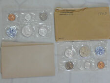 Lot 1960 1963 Proof Set Coin Franklin Half Dollar Quarter Nickel Cent