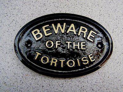 BEWARE OF THE TORTOISE - HOUSE DOOR PLAQUE SIGN GARDEN REPTILE