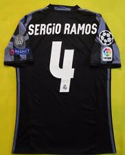 5+/5 REAL MADRID 4 SERGIO RAMOS 2017 ORIGINAL FOOTBALL SOCCER JERSEY SHIRT THIRD