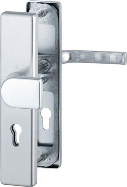 Schutz-Drückergarnitur London 78G/2221/2440/113 ES1 PZ Entf. 92mm VK 10mm Alu F2