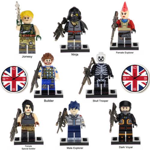 satz Fortnite Battle Royale Bausteine Figur Mini figur Passt Lego 8pcs