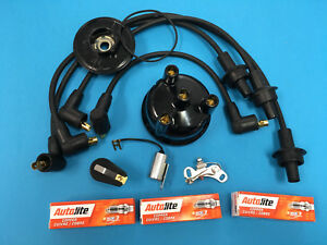 ford tractor tune up kit wires plugs points cap rotor 2000 3000 3600 rh ebay com