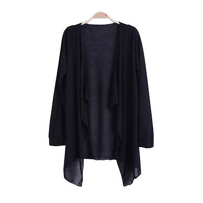 Womens Casual Long Sleeve Cardigan Thin Sweater Coat Outwear Tops Coat 9 Colors