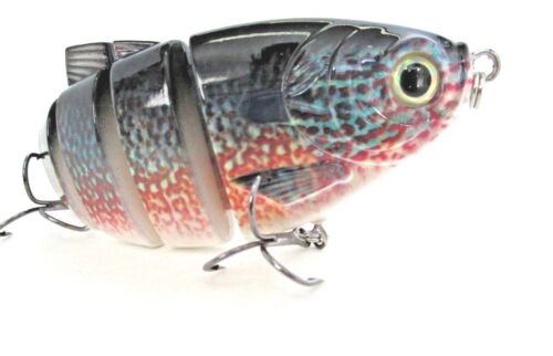 """For Bass Pike Striper redfish and more 7/""""Hair Tail Swimbait Sunfish//Pumpkinseed"""