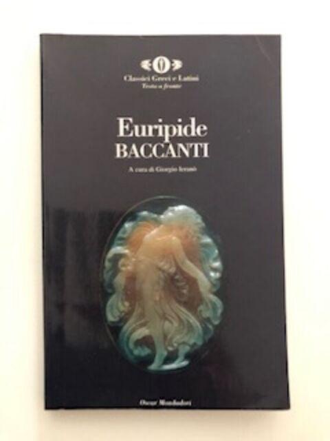 Euripide Baccanti Oscar Mondadori usato con qualche scritta