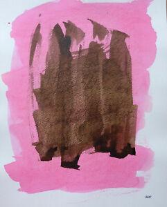 Audacieux Joseph Iliu (1914-1999) Grande Composition Abstraite Gouache Sur Papier (87) Une Offre Abondante Et Une Livraison Rapide