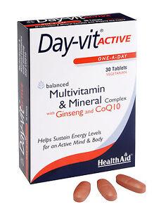HEALTHAID-day-vit-actif-un-par-jour-30-Vege-comprimes-Vitamines-amp-mins