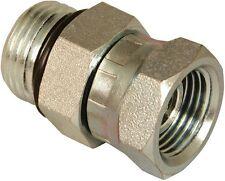 "Apache 39005775 Universal Hydraulic Adapter, 1/2"" M O-Ring x 3/8"" F Pipe"