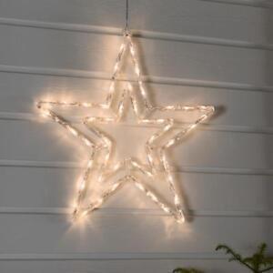 Image Is Loading Large Warm White Led Acrylic Star Outdoor Christmas