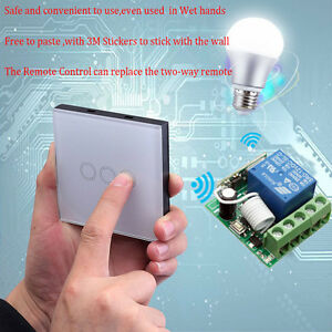Wireless remote control lamp touch wall light smart switch relay image is loading wireless remote control lamp touch wall light smart aloadofball Images