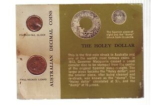 1966-Carded-UNC-Coin-SET-Australia-One-amp-Two-Cent-Green-Card-E-896