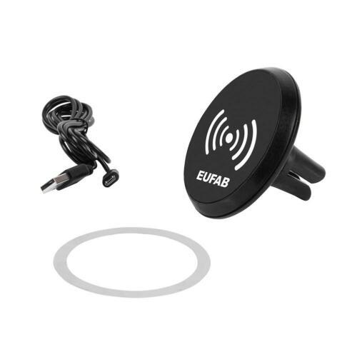 Support Magnétique Eufab Pour Smartphone Avec Chargeur À Induction Sans Fil