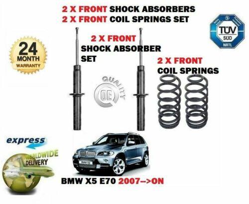 2 ressorts Pour BMW X5 E70 2007-2012 2x avant amortisseur Shocker set