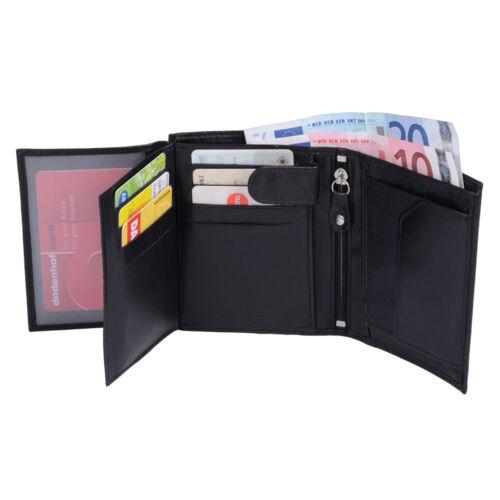 MittelreißverschlussTOSCANAschwarz Kombigeldbörse aus hochwertigem Leder