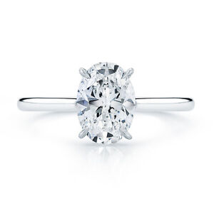 Carat White Gold Moissanite Solitaire Engagement Ring