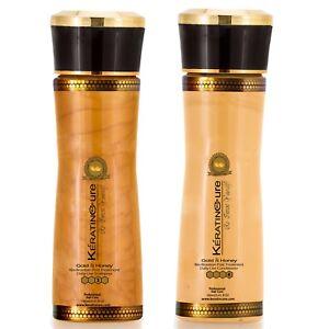 Keratin-Cure-Gold-amp-Honey-Hair-Shampoo-Conditioner-Argan-Sulfate-Free-160ml-5-oz