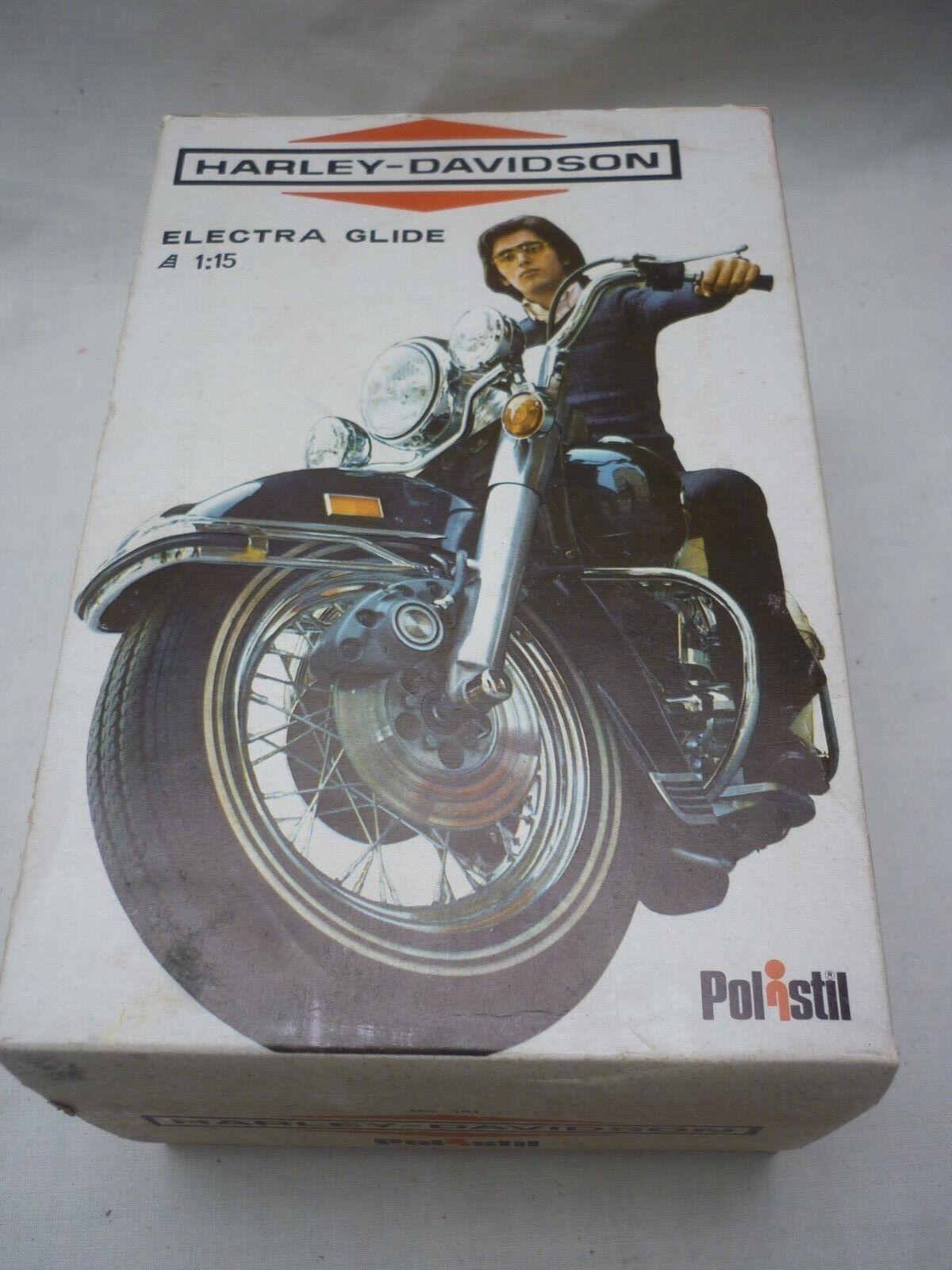 Un modello in scatola Polistil di una Harley Davidson Electra Glide