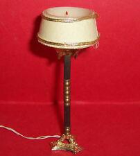 VINTAGE 1970's LUNDBY DOLLS HOUSE LIGHT UP ORNATE CANDLE FLOOR LAMP