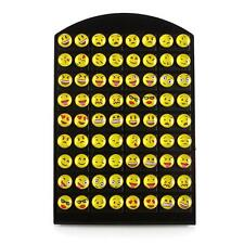 Newest 36 Pairs/Card Emoji Earring Cartoon Smile Funny Face Ear Stud Jewelry RT