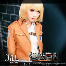 Japan anime manga attack on titan Zoë Hange cosplay ponytail costume wig JPLH032