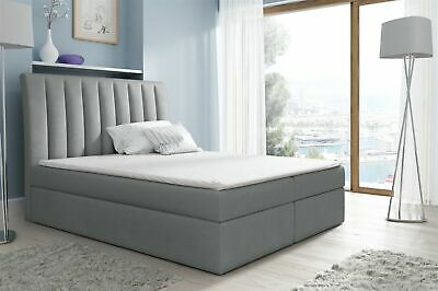 Boxspringbett Schlafzimmerbett Malena 140x200cm Stoff Grau So Effektiv Wie Eine Fee